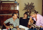 Ricky Phillips jamming with father and brother