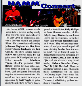 NAMM Show 2002 Performance Review